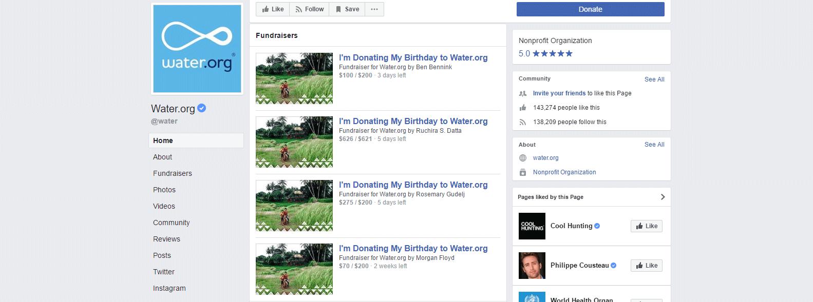 Water.org Facebook
