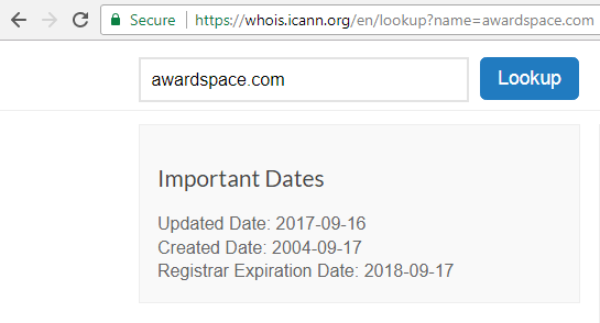 domain expiration date 1