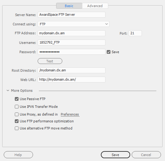 ftp connection settings 15