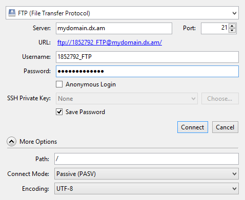ftp connection settings 9