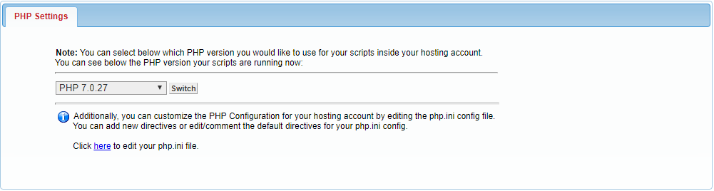 php settings 1