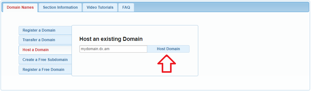 domain already exists 5
