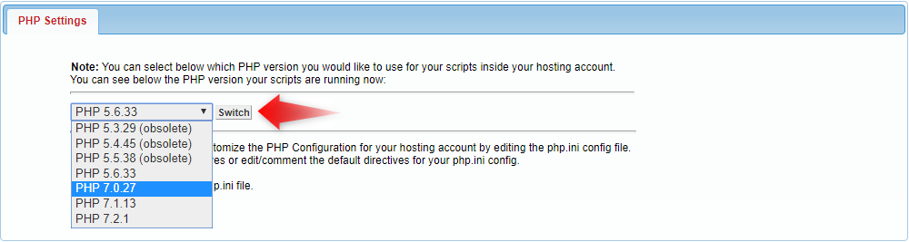 php settings 2