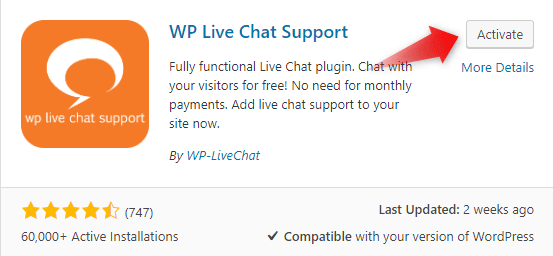 how to add live chat to wordpress 3