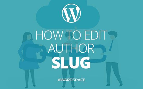 How to Edit Author Slug