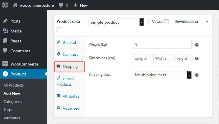 WooCommerce Product Shipping Tab