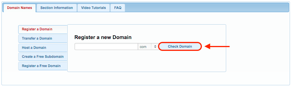 You can use our Domain Manager to register a domain name that uses some of the most popular domain extensions, such as .COM, .NET, .ORG, .INFO and more.