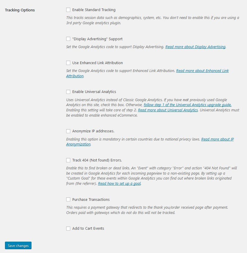 Add Google Analytics to WooCoommerce