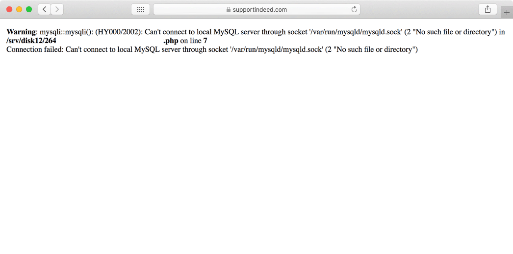 If your website has trouble connecting to its database, it may display an error message similar to this one.